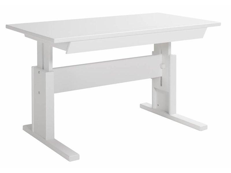 Lifetime Höhenverstellbarer Schreibtisch 120 Weiß Wwwromy