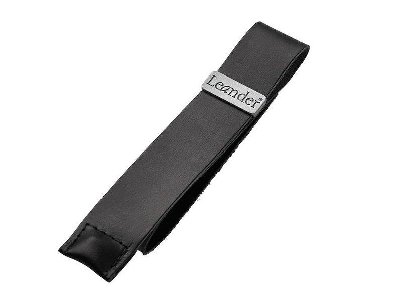 Leander Ledergurt mit Knopf schwarz