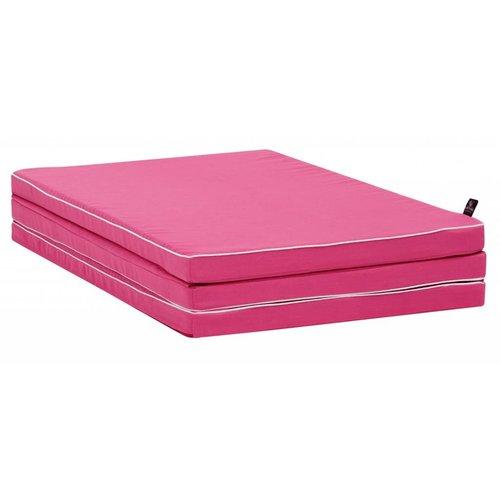 LIFETIME folding mattress pink 150 x 90 cm