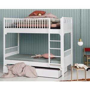 Oliver Furniture Classic Etagenbett 90 x 200 cm mit gerder Leiter,  weiß