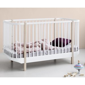 Oliver Furniture Wood cot bed, white-oak