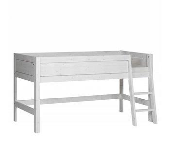 LIFETIME Minihochbett 90 x 200 schräge Leiter Whitewash