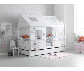 LIFETIME Hütte Low Silversparkle Whitewash