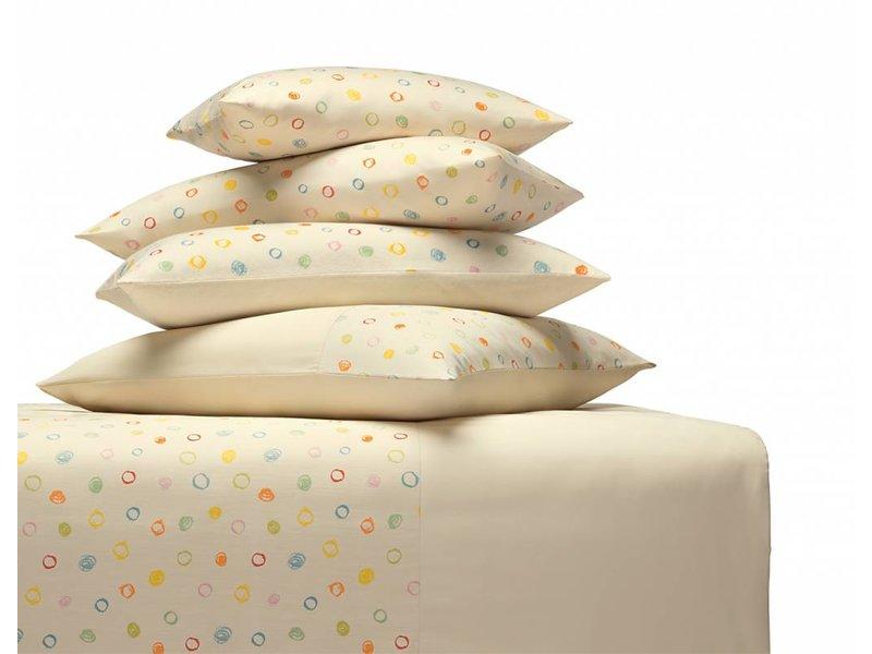 cotonea Satin- Kinderbettwäsche Kritzelkreise