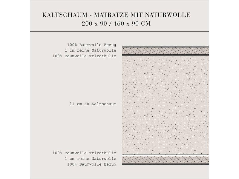 Oliver Furniture Kaltschaummatratze 90x200 cm