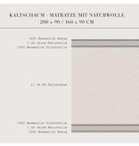 Oliver Furniture Kaltschaummatratze Juniorbett 90 x 160 cm