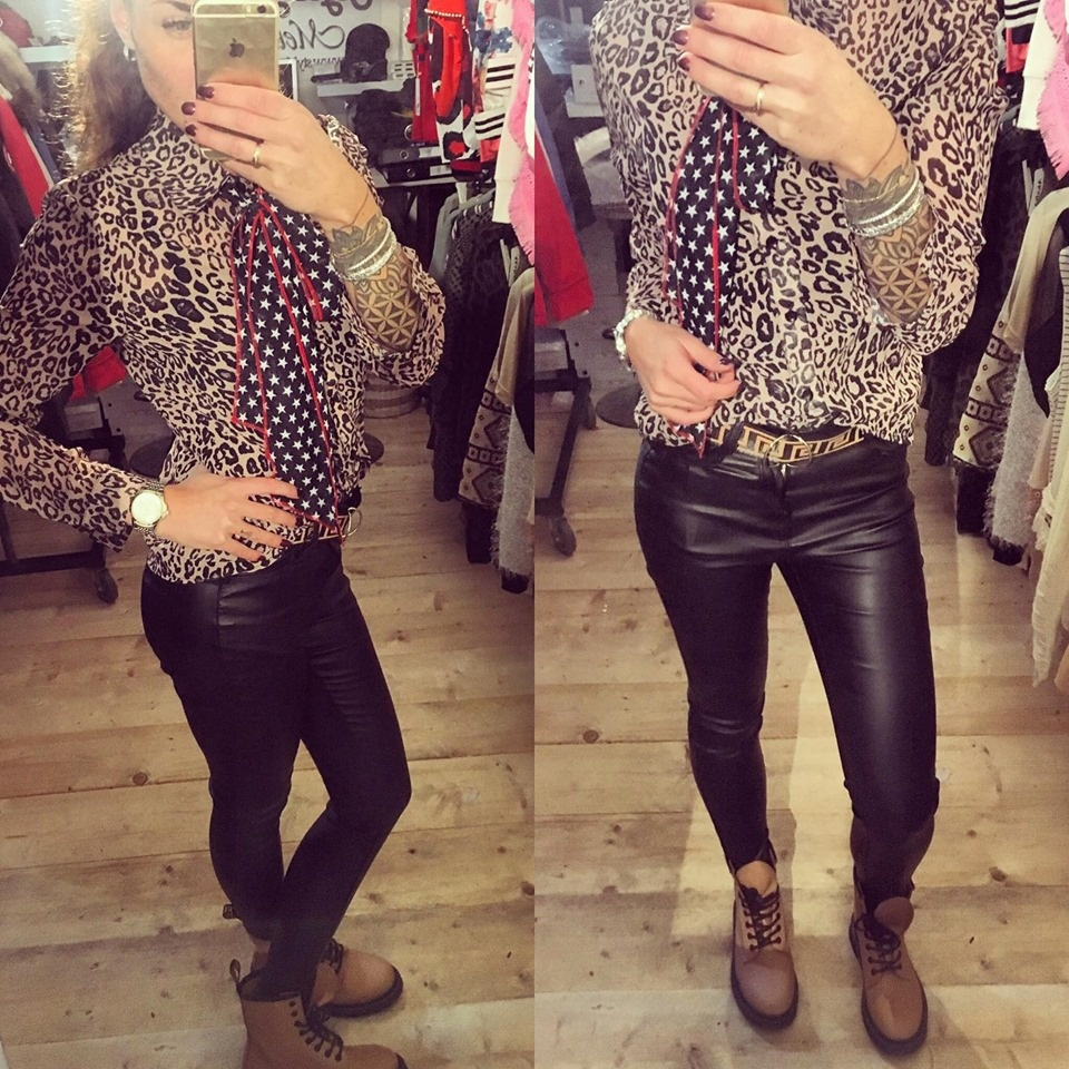 LEATHER JEANS