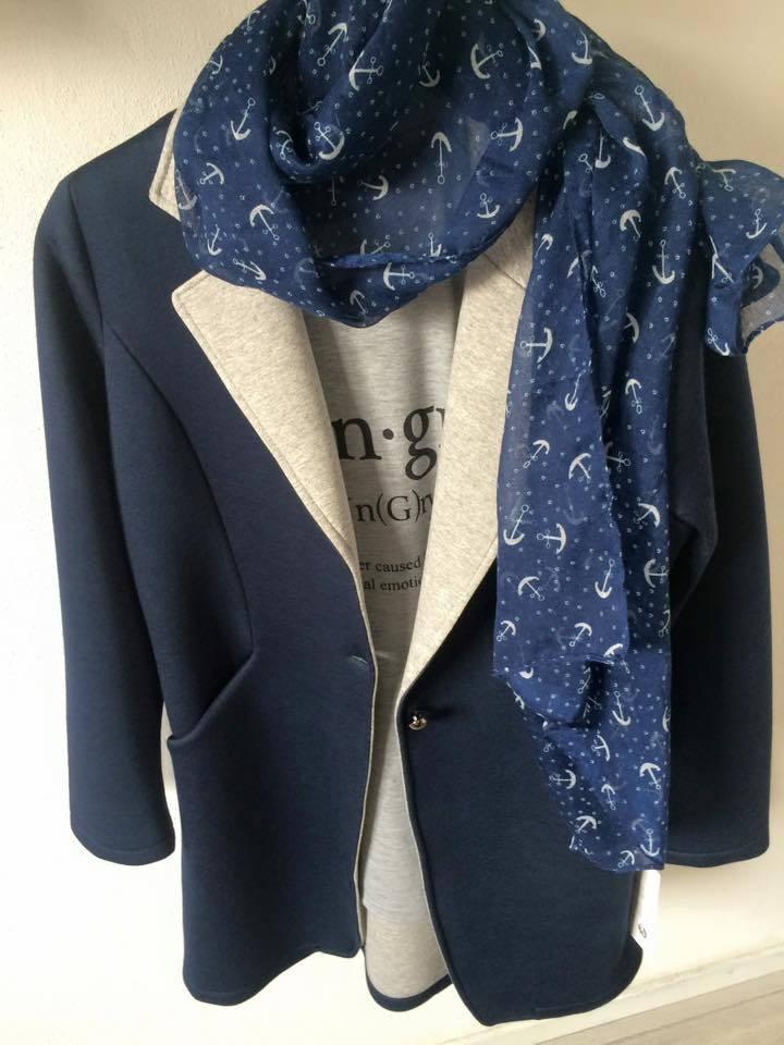 Sjaal Haak Blauw