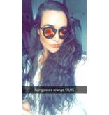 Sonnenbrille orange