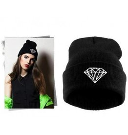 BEANIE DIAMAND BLACK