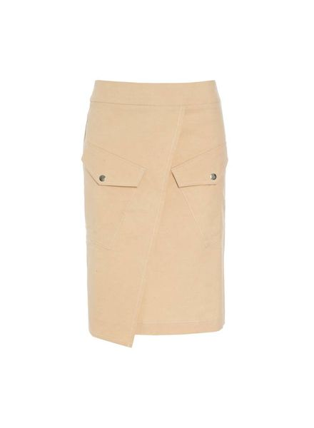 HOSBJERG Yellow-Beige Denim Skirt