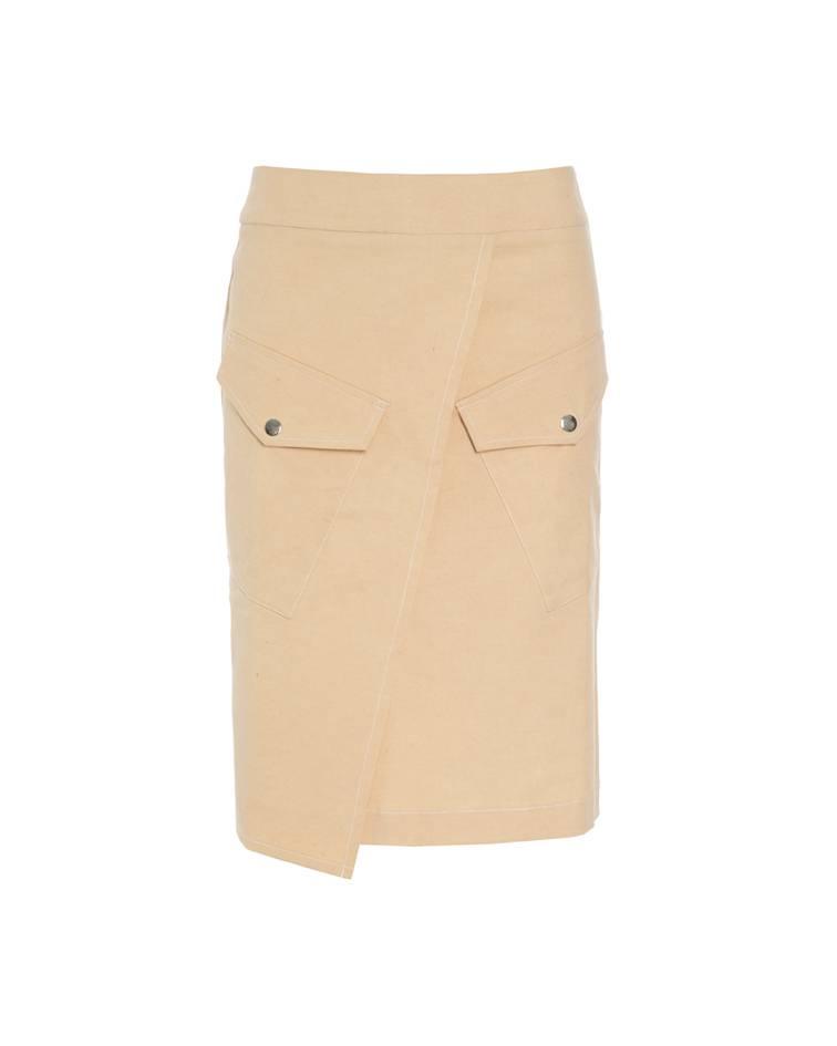 Yellow-Beige Denim Skirt