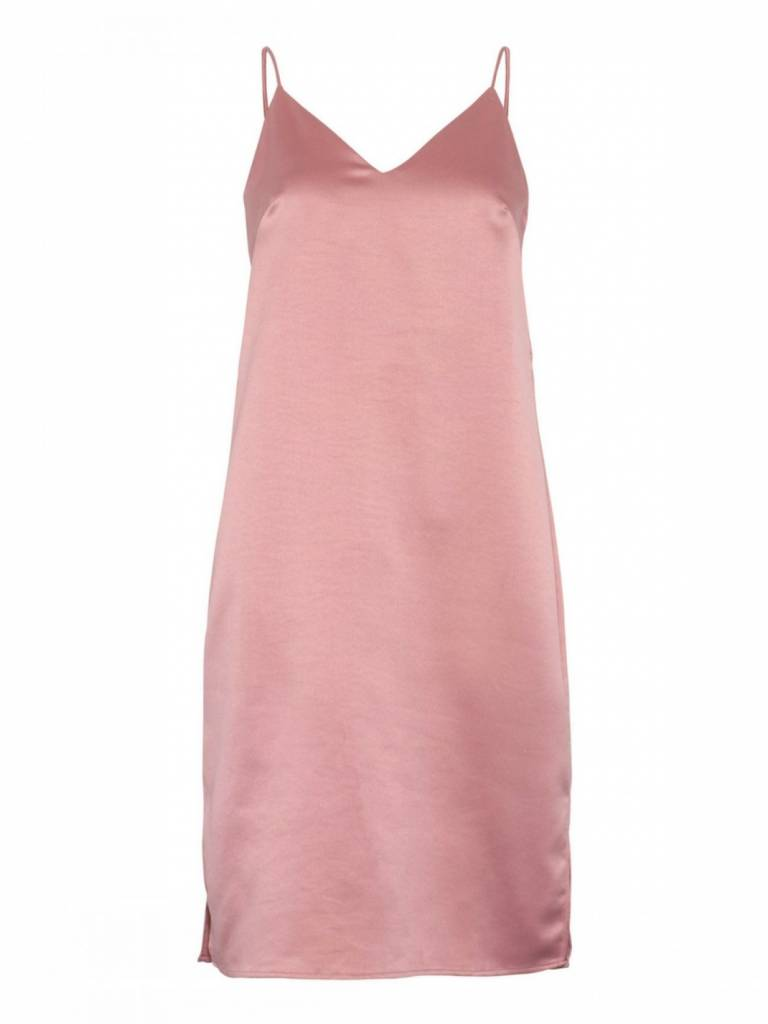 Love & Divine  Satin Pink Slip Dress