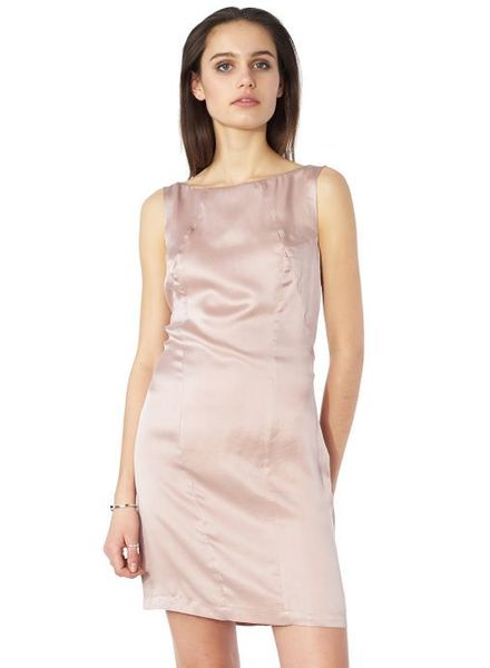 POP COPENHAGEN  Silk Sand Pink Dress