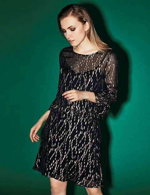 mbyM Dress With Gold Print