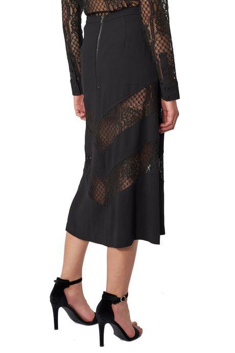 POP COPENHAGEN  Black Blouse With Lace