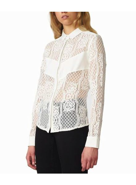 POP COPENHAGEN  White Blouse With Lace