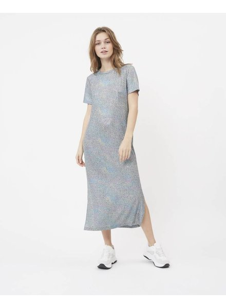 Moves by minimum Grey Midi Dress With An Iridencent Finish