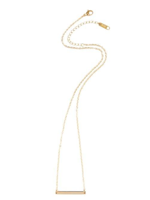 Ellen Beekmans  SHORT NECKLACE WITH GOLDEN BAR