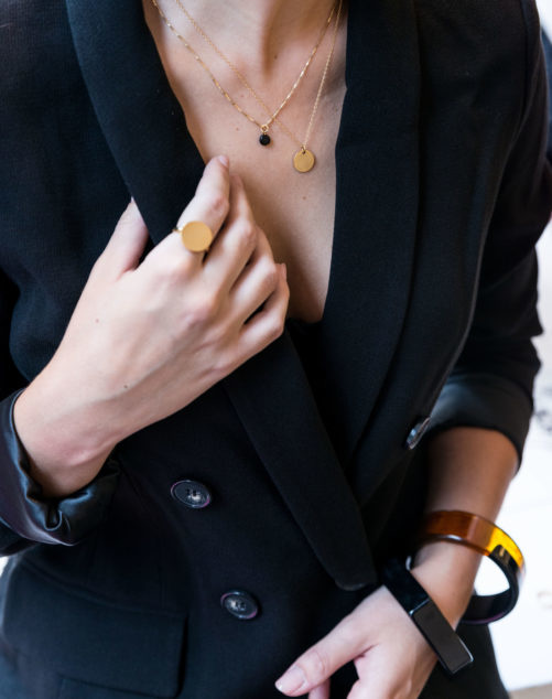Ellen Beekmans  SHORT NECKLACE GOLD-PLATED PENDANT