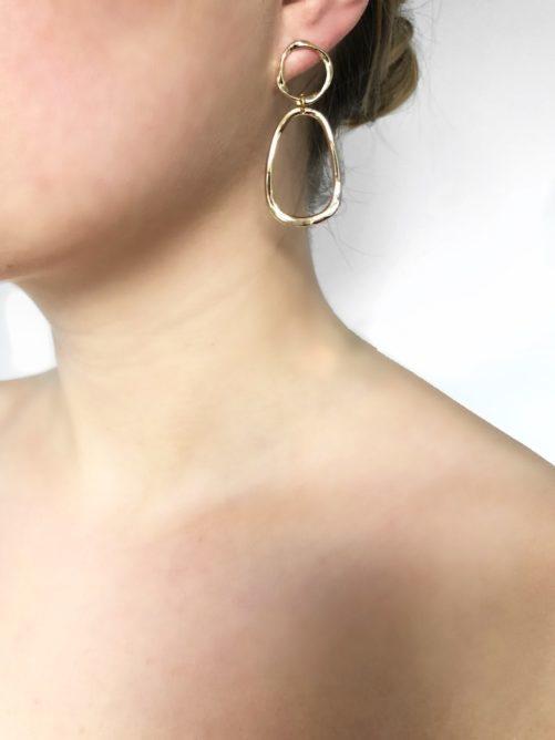 Ellen Beekmans  OPEN EAR STUDS WITH OPEN DROP