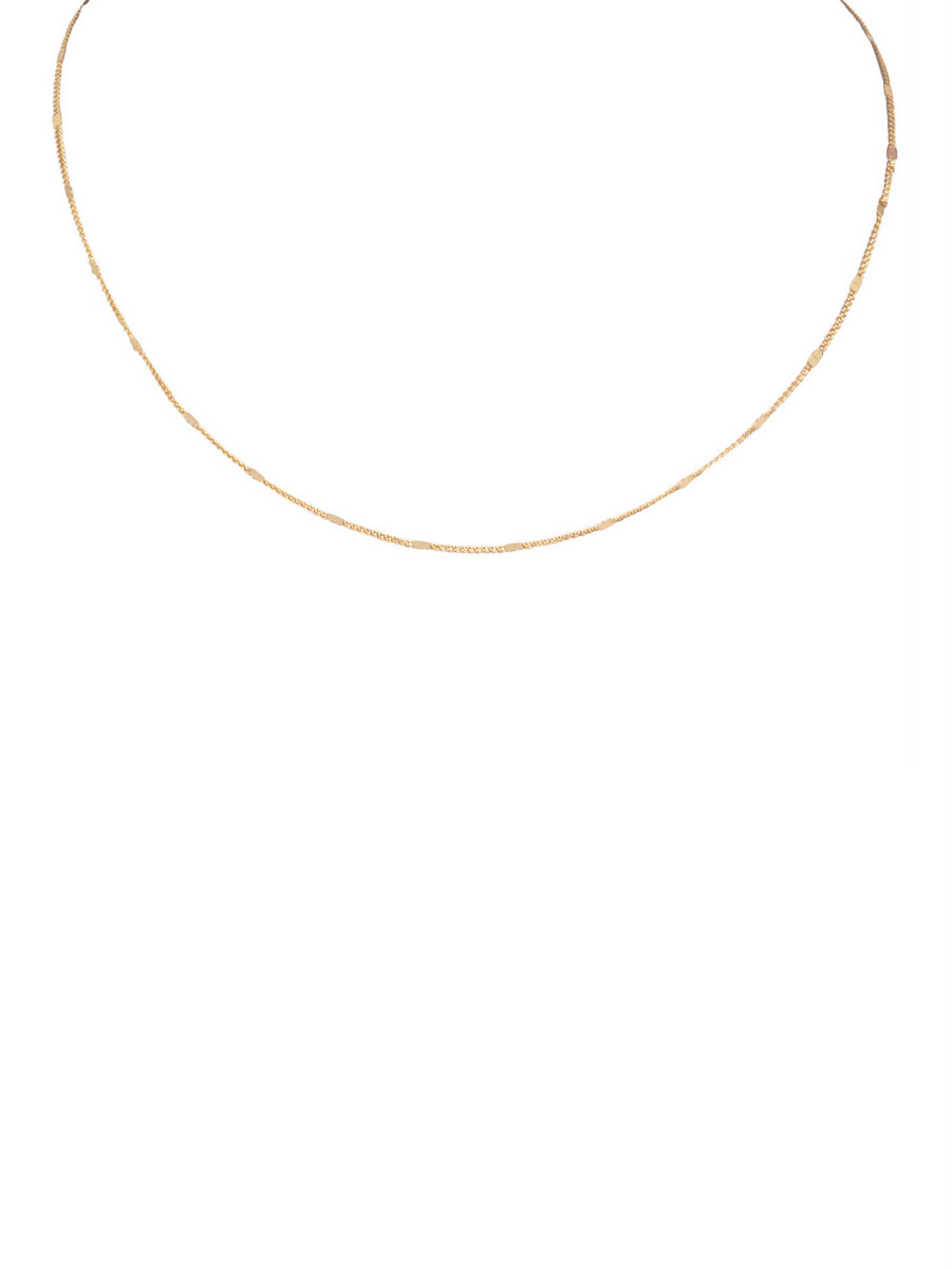 Ellen Beekmans  SHORT FINE NECKLACE WITH A FLAT CHAIN