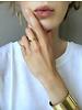 Ellen Beekmans  ASYMMETRIC EARRINGS GOLD