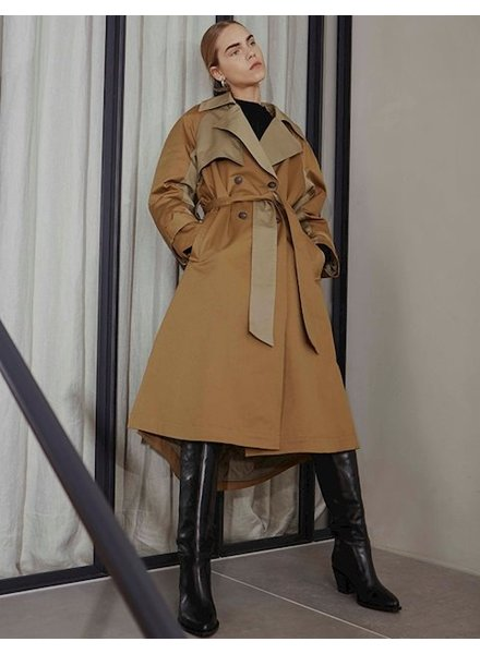 mbyM LEEZIA COAT - BROWN