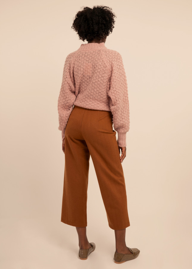 FRNCH PEARLINE PANTS - BROWN