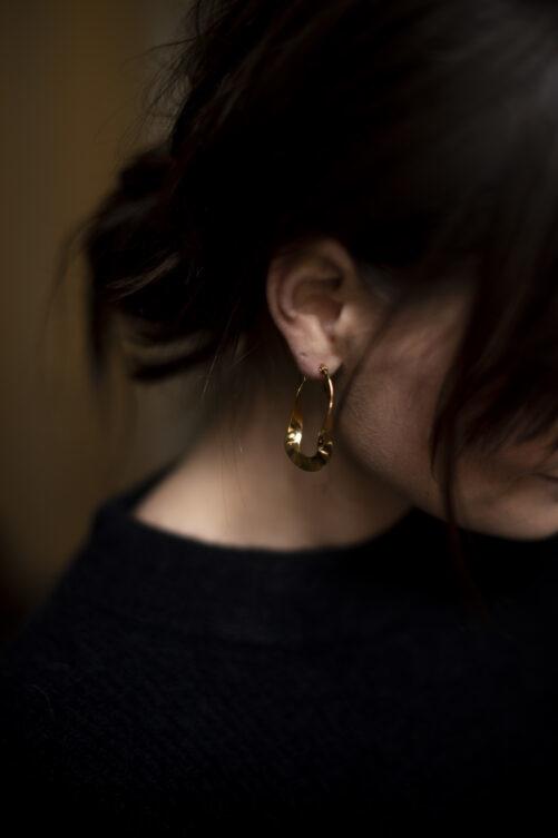 Ellen Beekmans  EARRINGS OVAL TWIST