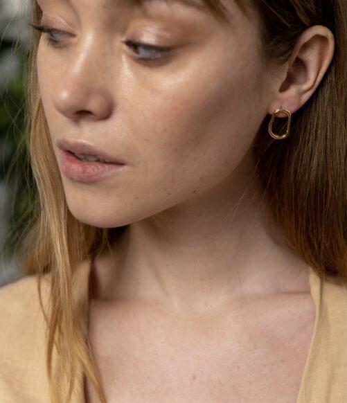 Ellen Beekmans  OPEN ORGANIC EARSTUDS (2CM)