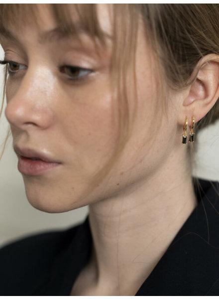 Ellen Beekmans  Earrings with pendant / black