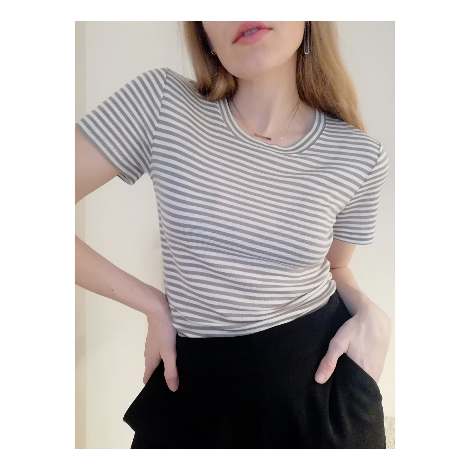 mbyM STRIPED T - TAUPE