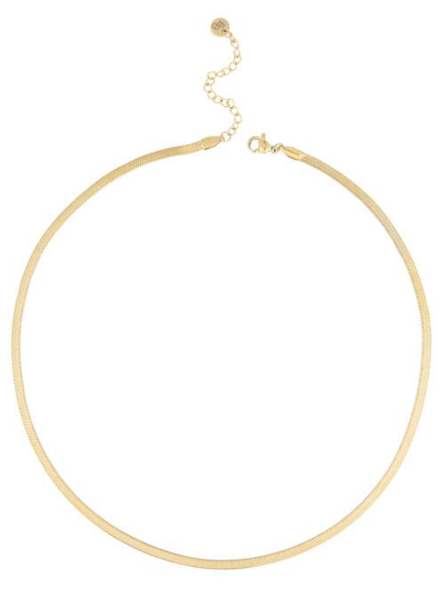 Ellen Beekmans  SNAKE NECKLACE GOLD PLATED