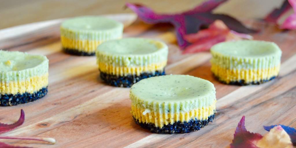 Pompoen matcha cheesecakejes