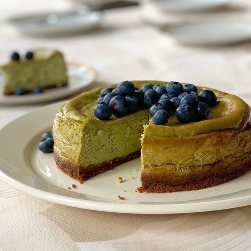 New York Matcha Cheesecake