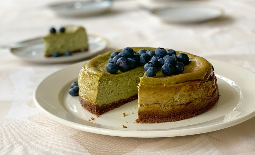 New York Matcha Cheesecake