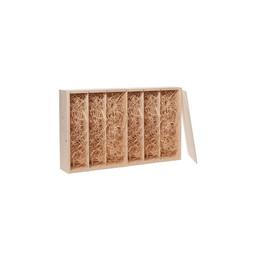 Luxe 6 vaks houten geschenkkistje, met schuifdeksel