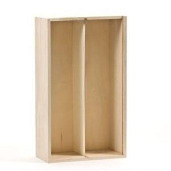 Luxe 2 vaks houten geschenkkistje, met schuifdeksel