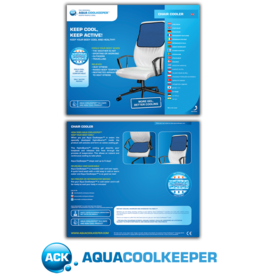 Aqua Coolkeeper Cooling mat for chair Cool Blue