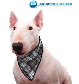 Aqua Coolkeeper Honden Koel bandana Scottish Grey