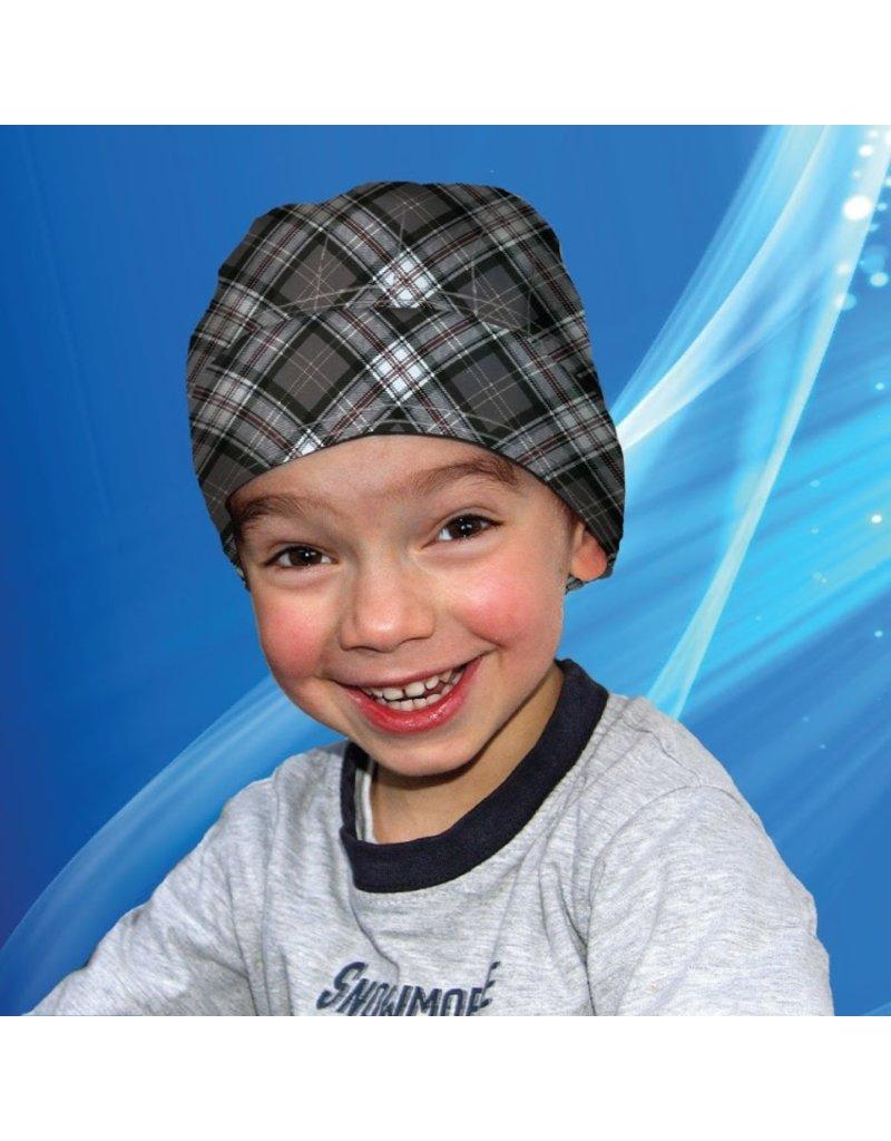 Aqua Coolkeeper Koel Bandana Scottish Grey Kids