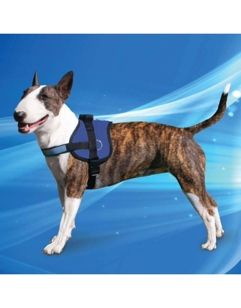 Aqua Coolkeeper Honden Koeltuigje Survival Harness Pacific Blue