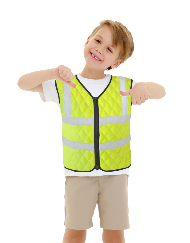 Aqua Coolkeeper Cooling vest Neon Yellow Kids
