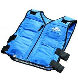 TechKewl Cooling Vest Front Zipper Blue