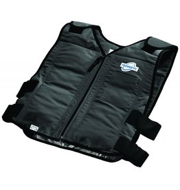 TechKewl Cooling Vest Front Zipper Black
