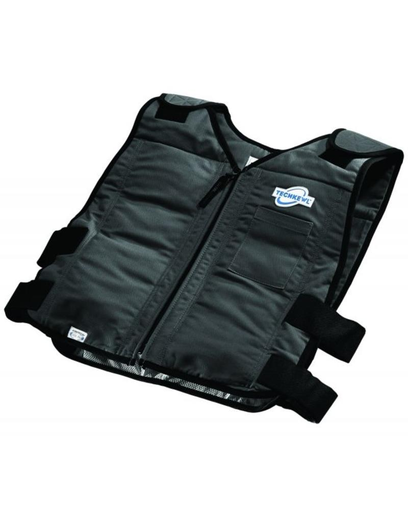 TechKewl Cooling Vest Front Zipper Black
