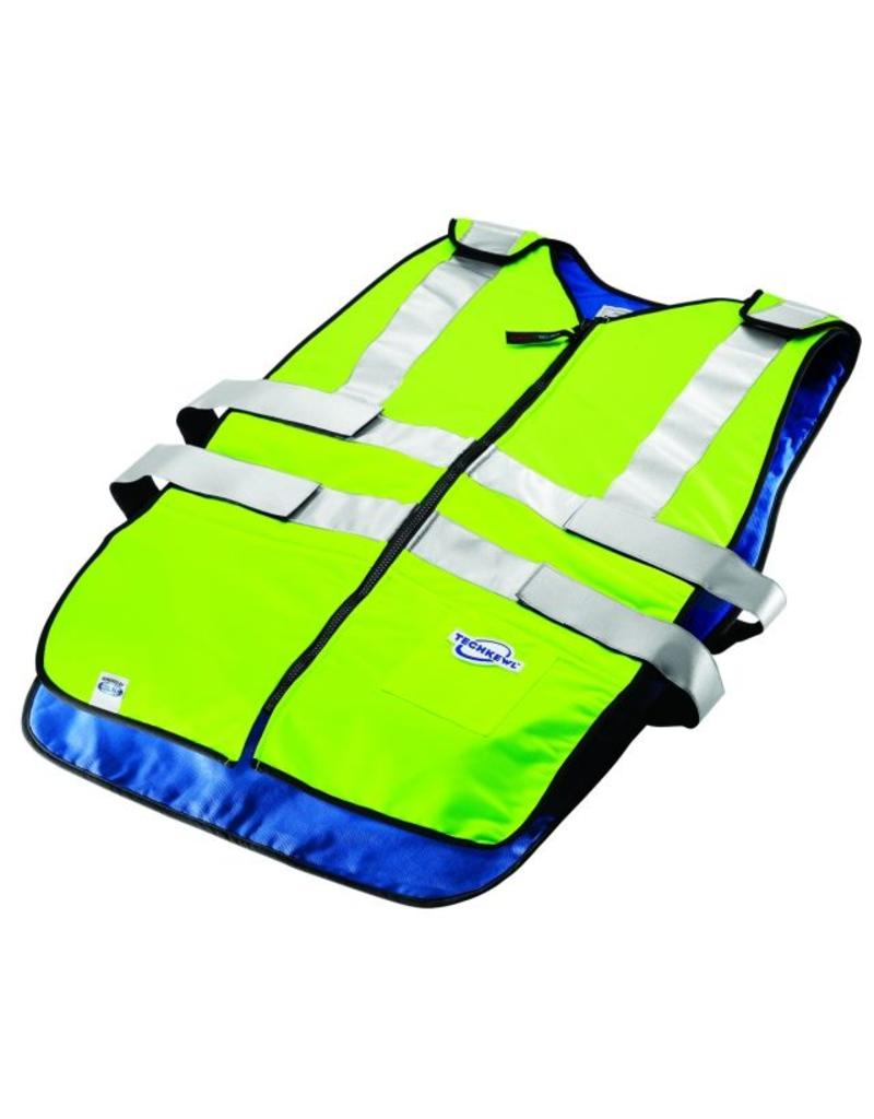 TechKewl Cooling Vest Front Zipper ANSI Class II