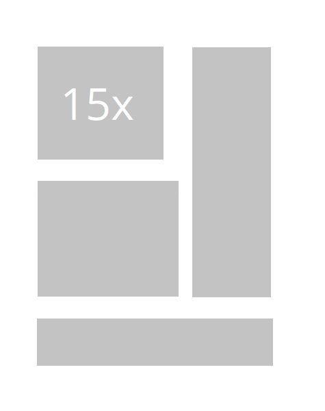 15x statische Banner/ Bildanzeigen (nicht animiert)