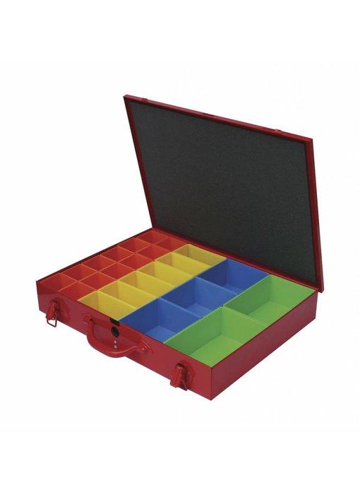 MW Tools Materiaalkoffer metaal met 23 bakjes